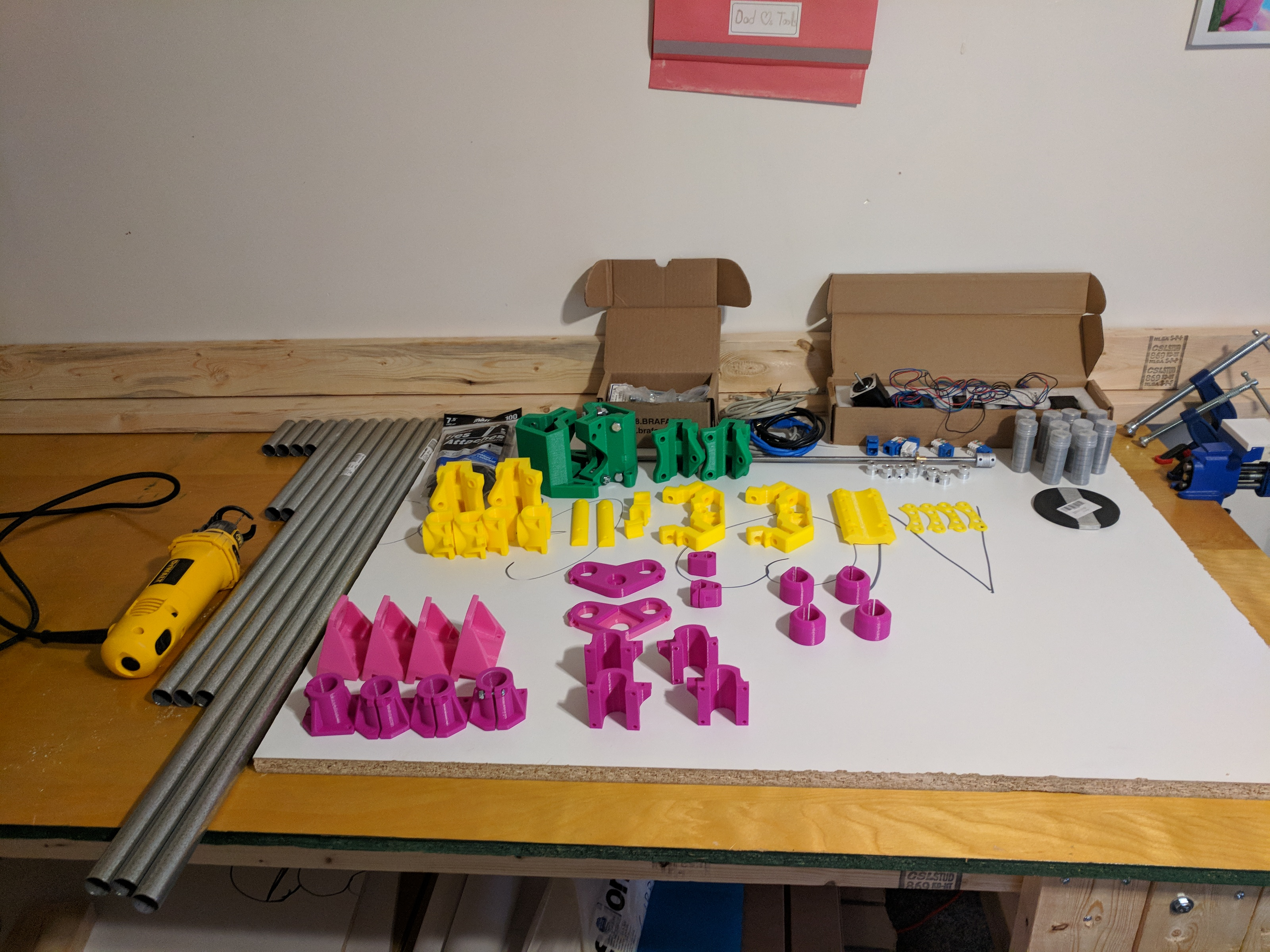 All the parts for my MPCNC